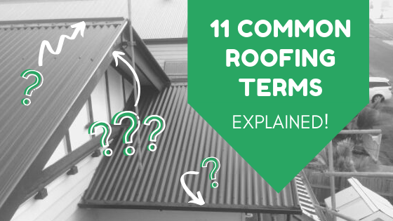 Header - arrows pointing to features of metal roof, question marks