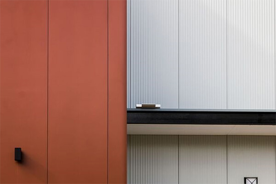 Colorbond metallic wall cladding