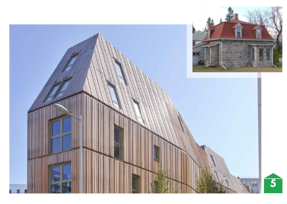 Traditional mansard roof compared with contemporary architect designed mansard roof