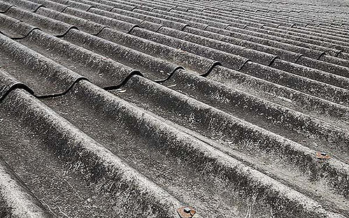 Old asbestos roof sheets