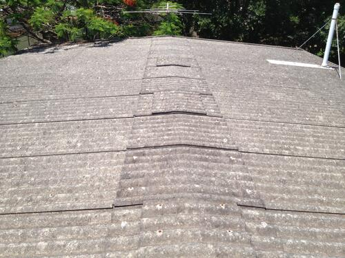 View on top of asbestos roof