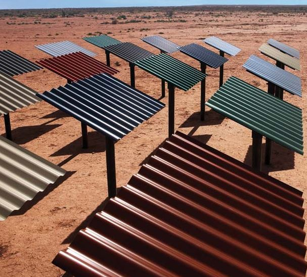 colorbond roof sheets testing in the outback