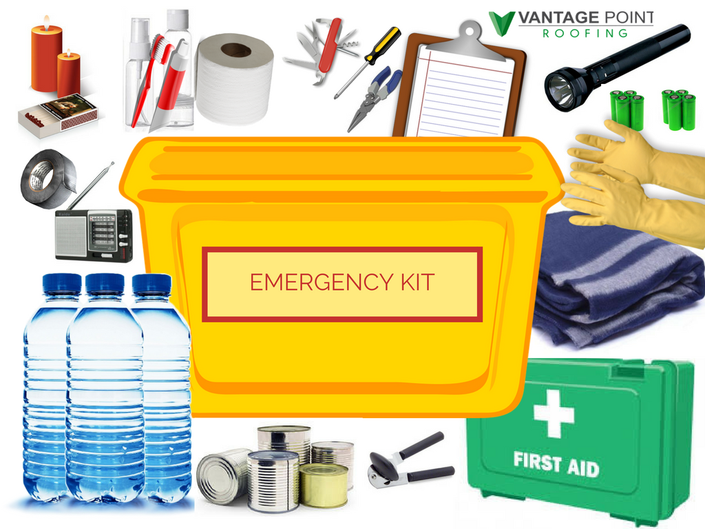 Common items included in an emergency kit
