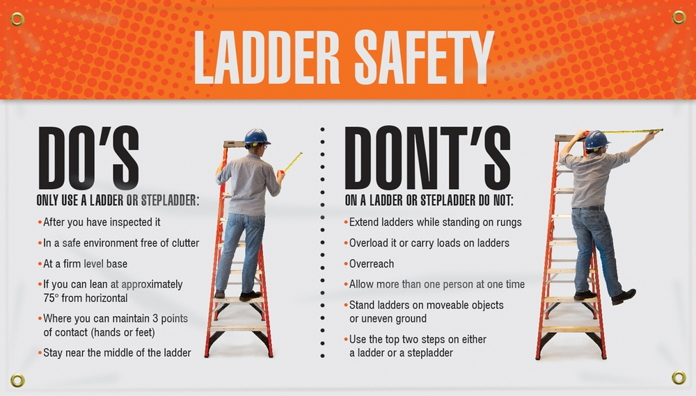 Ladder safety: Do's and Dont's