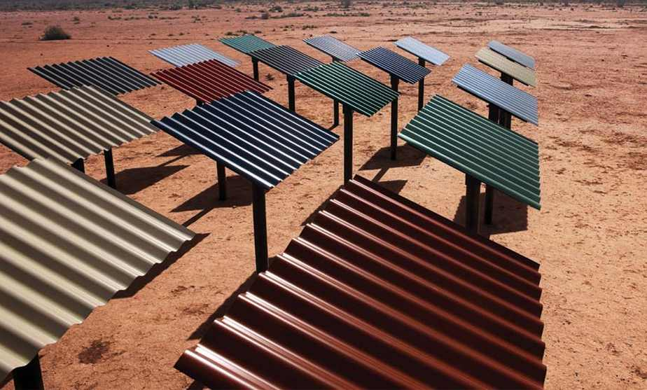 Colorbond metal sheets being tested under harsh Australian conditions