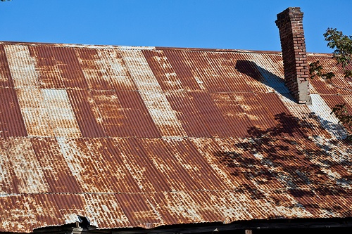 Rusted roof sheets