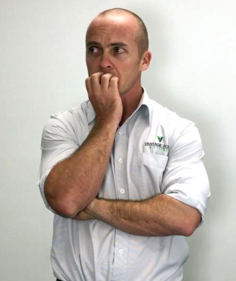 Video still: VPR director looking worried